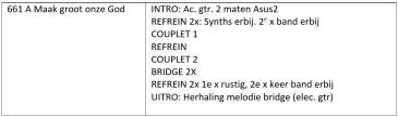 Voorbeeld arrangement